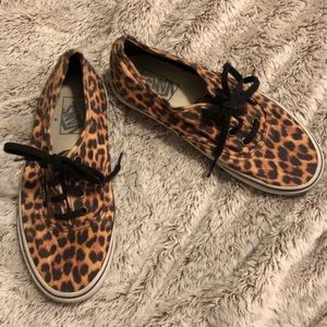 Cheetah print Vans with thick sole Women's 7.5